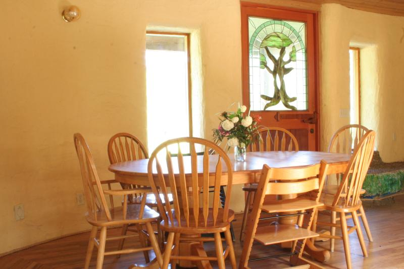 Dinning area with high chairs provided if needed.
