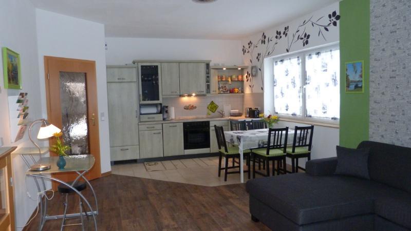 Wohnküche mit Tür zum Flur