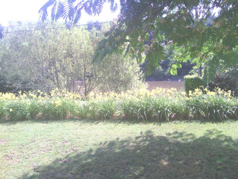 garden overlooking the river Dordogne