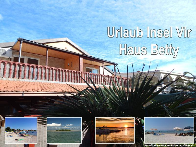Apartment Betty 1 für 4 Personen mit Meeresblick, vacation rental in Vir