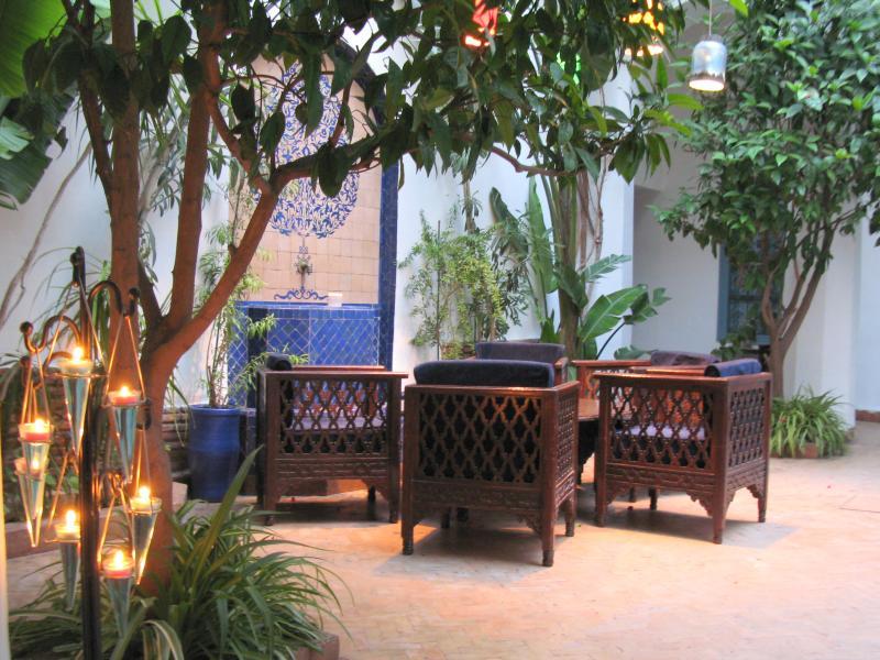 Une partie du patio du Riad Sekkat