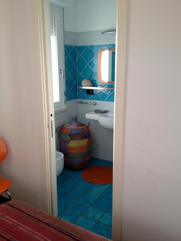 the second bedroom bathroom