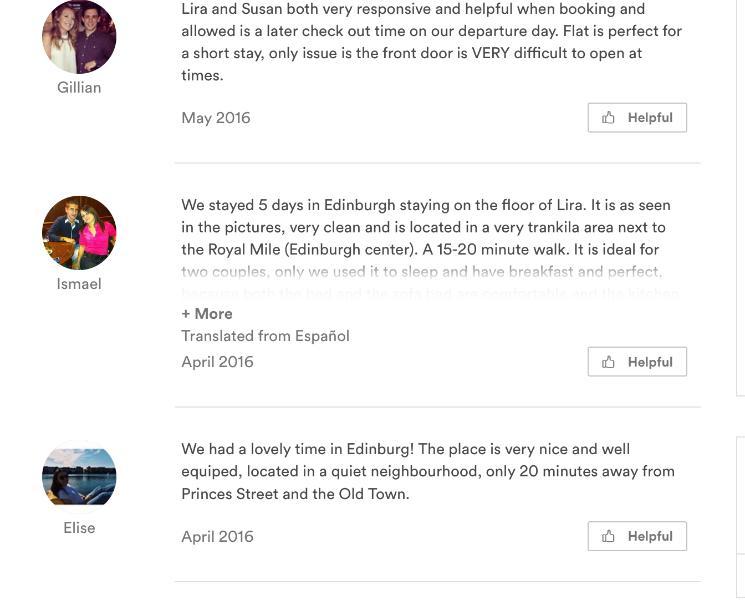 Reviews via other places