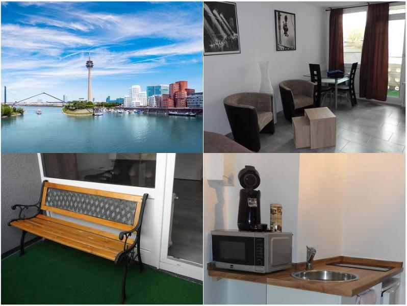 möbliertes 1 Zimmer Appartement - Küche Bad Loggia Internet, holiday rental in Düsseldorf
