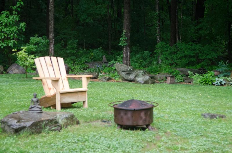 Fire pit and yard