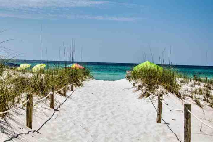 Walkway to Beautiful White Sand Beach