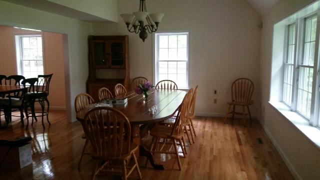 Dining room-Extra large table, seating for 10, new hardwood floors