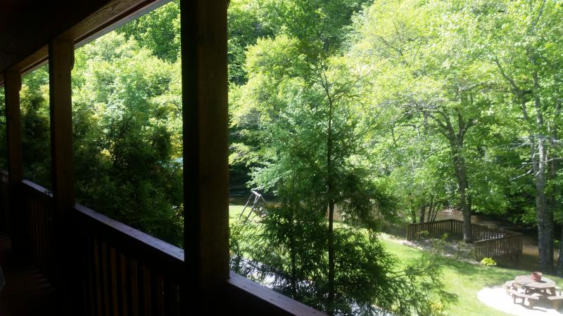 view from the front porch overlooking the river