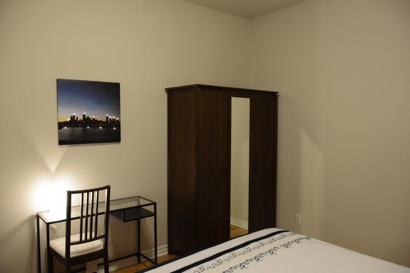 2nd bedroom. Desk and wardrobe