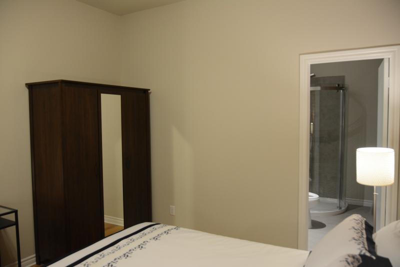 Bedroom has en-suite bathroom.