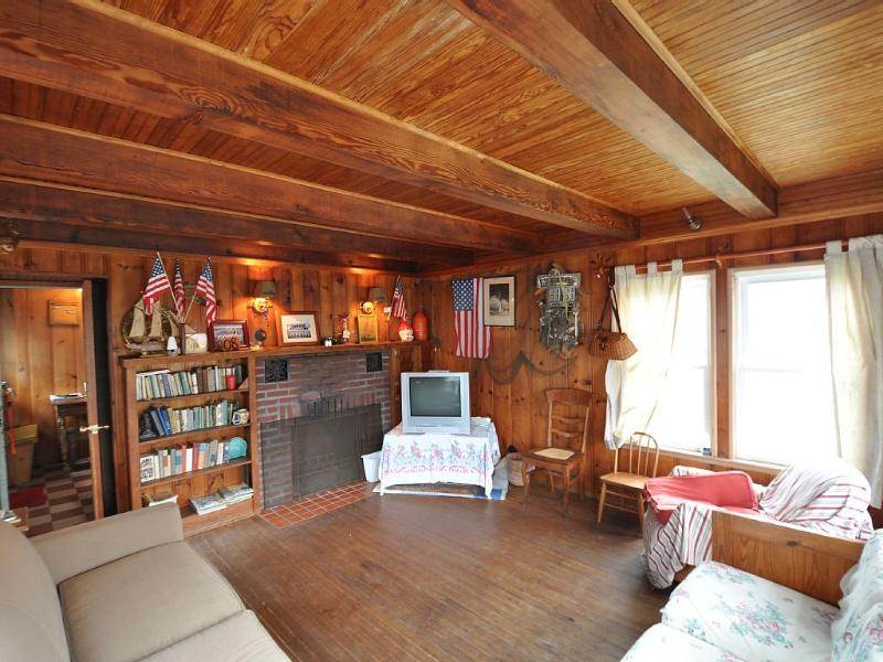 Living Room - With All Natural Wood And Solid Ceiling Beams