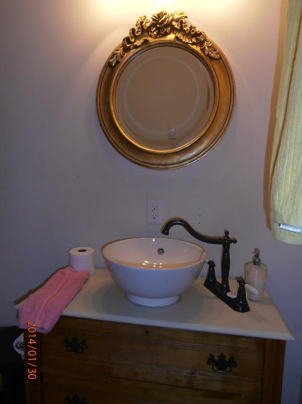 Bathroom (mirror above sink)