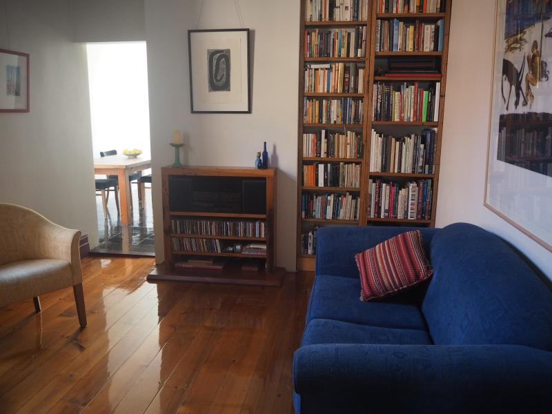 Relax - there's a library of books, CDs, and a smart TV.