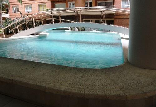 Three outdoor pools with rich landscaping for your enjoyment.