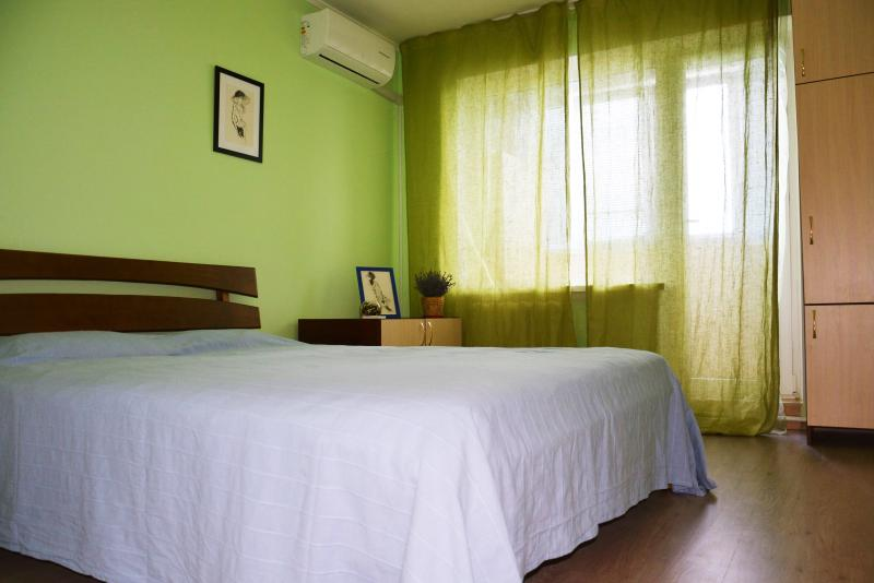 Bedroom with a large double bed