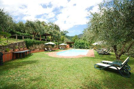 Apartment in the beautiful Villa Oleandri - Orfeo, holiday rental in Maggiano