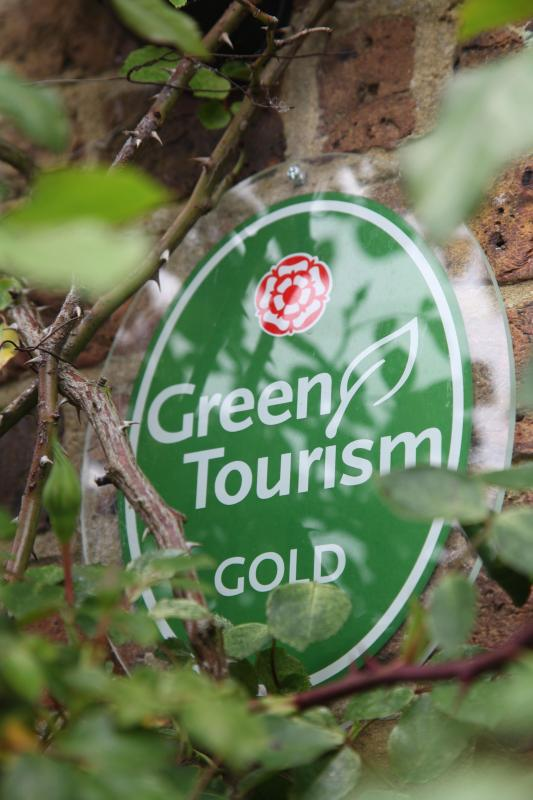 The highest Green Tourism accolade 'Gold'