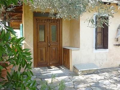 A entrada bem em casa.