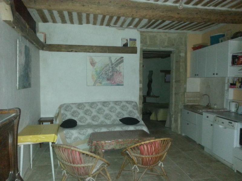 T2 Provençal plain-pied, Centre Ville, avec cour, aluguéis de temporada em Camaret-sur-Aigues