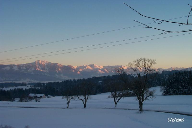 Serata a Oberstdorf Valley