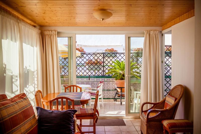 El salon con acceso a la terraza privada/The living with access to the priuvate terrace