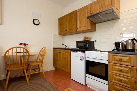 Molly Malone fully equipped kitchen and dining area