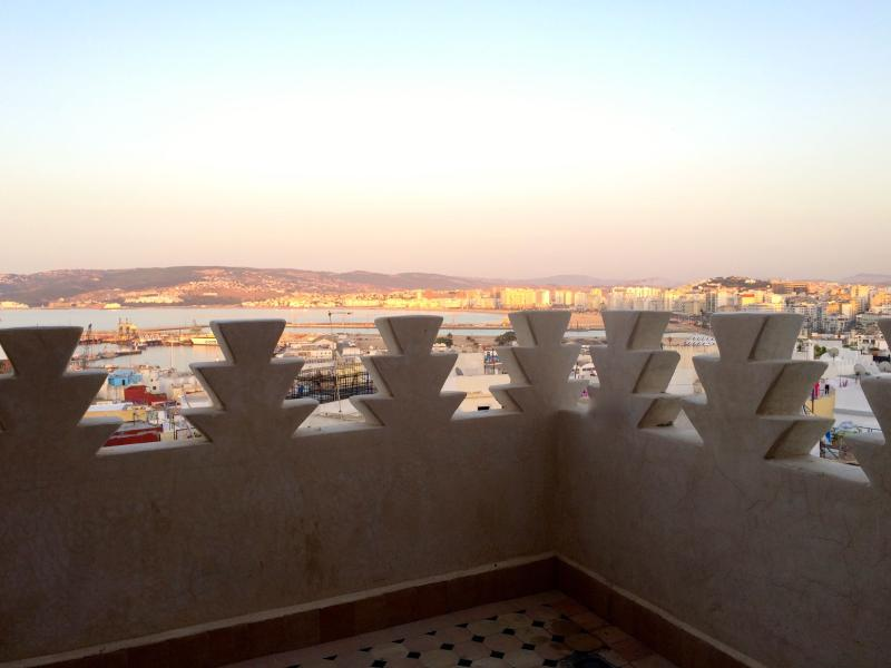 sundown lights over the Tanger´s bay from the Tower