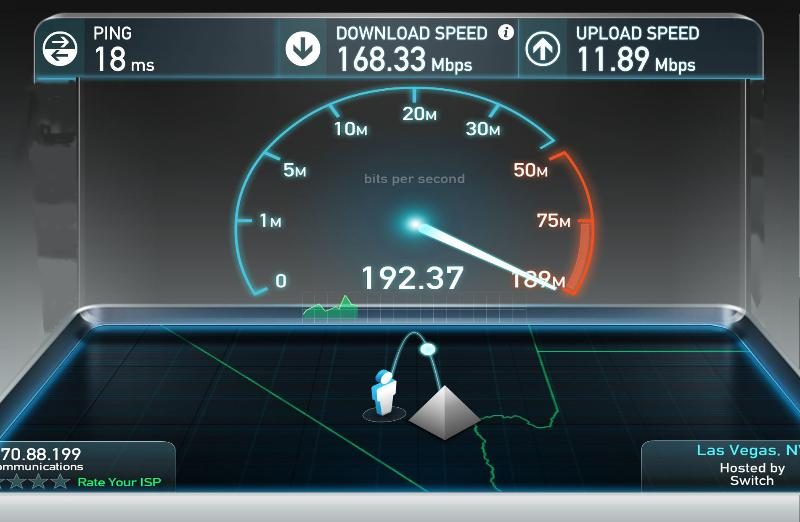 Up to 150mbps Internet, Wifi throughout the house.