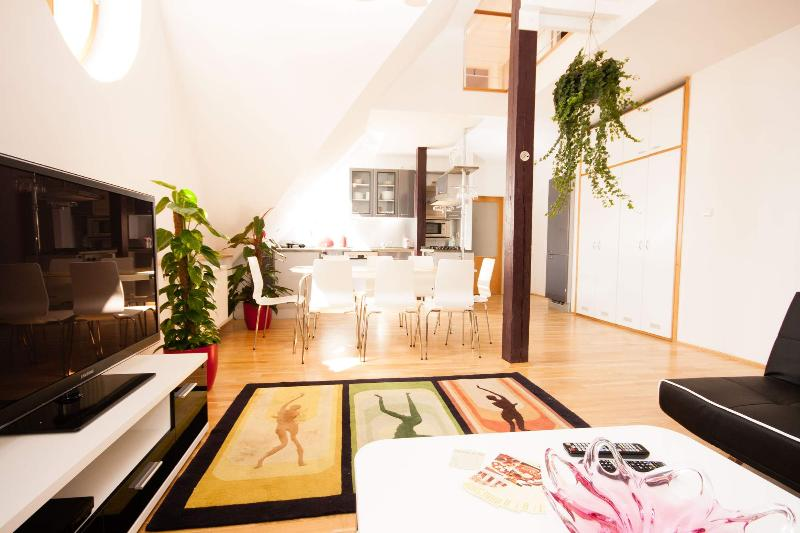 Kozi Loft 3-Bedrooms, 2-Bathrooms air-conditioned apartment (Prague Old Town), vacation rental in Prague