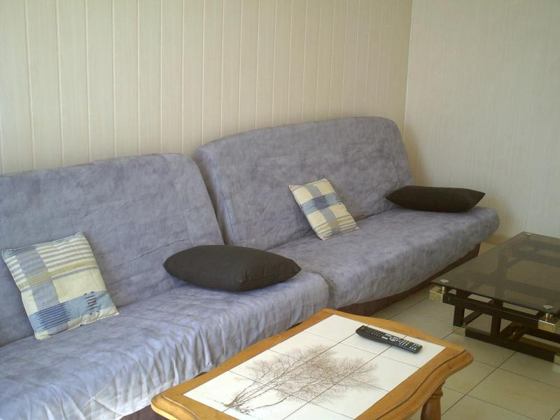 separate lounge room with 2 sofa settees