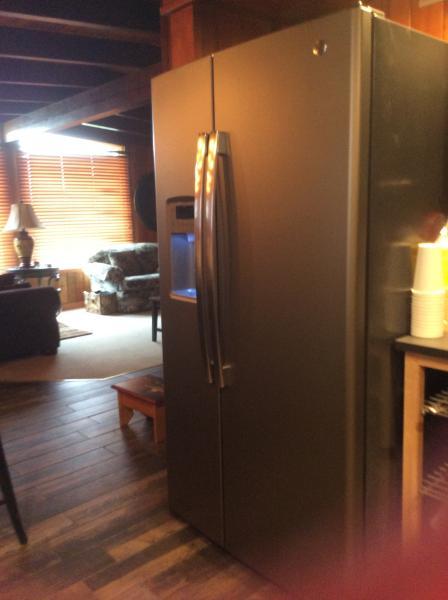 side by side koelkast met ijs en water in de deur - 2e koelkast in hulpprogramma voor extra's