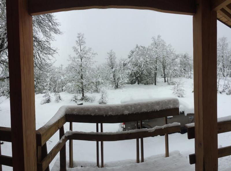 Vista panorámica desde la terraza durante la época de invierno.