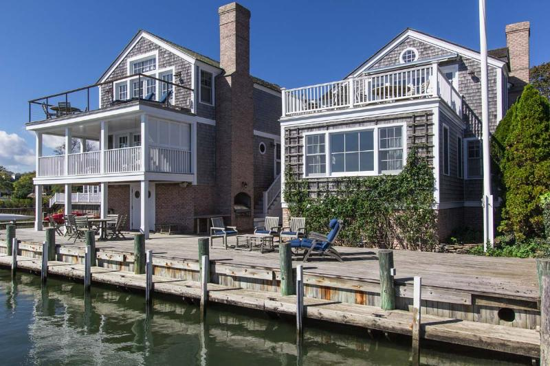 Dockside Deck, 2nd Level Porch and Top Level Deck all with Sweeping Views of the Harbor and Vineyard Sound