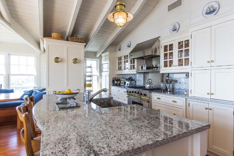 Chef's Kitchen, Commercial Stainless Appliances and Breakfast Bar