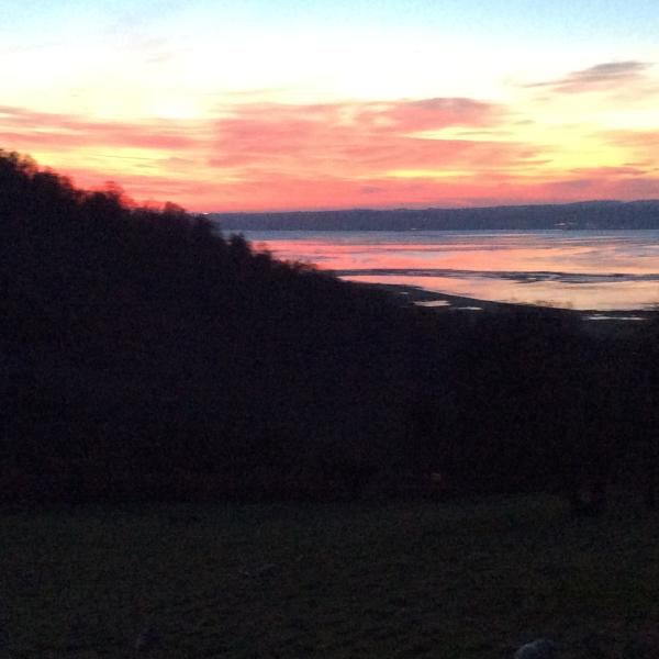One of our many stunning sunsets over the Isle of Anglesey viewed from the front patio