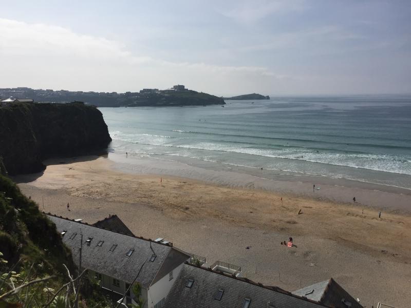 Tolcarne beach is a 50 sec walk