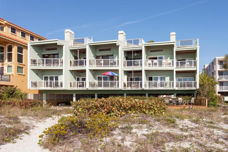 Building View From Gulf of Mexico. 2 Balconies in Lower Left-Hand CornerBelong to Unit.