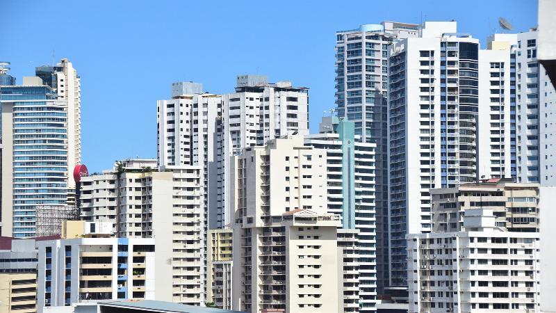 Vues de l'unité du centre-ville de Panama