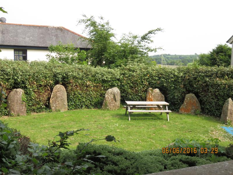 Stone circle. Sheltered and calm space for relaxing or socialising.