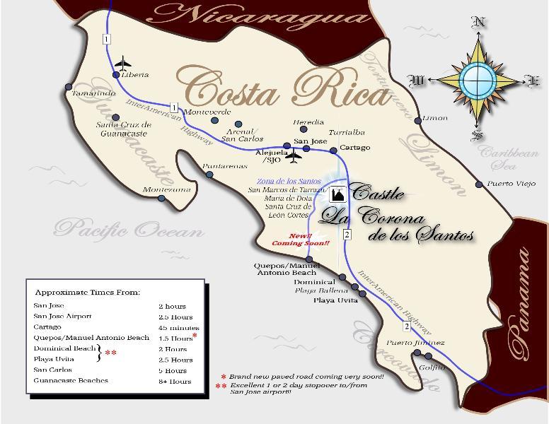 Castle La Corona is located in the heart of Costa Rica, not far from Manuel Antonio Beach