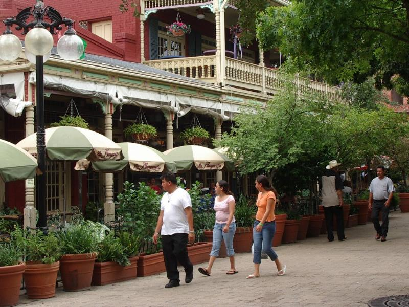 Mexican quarter 'El Mercado' with many shops and wonderful Mexican food and Margaritas