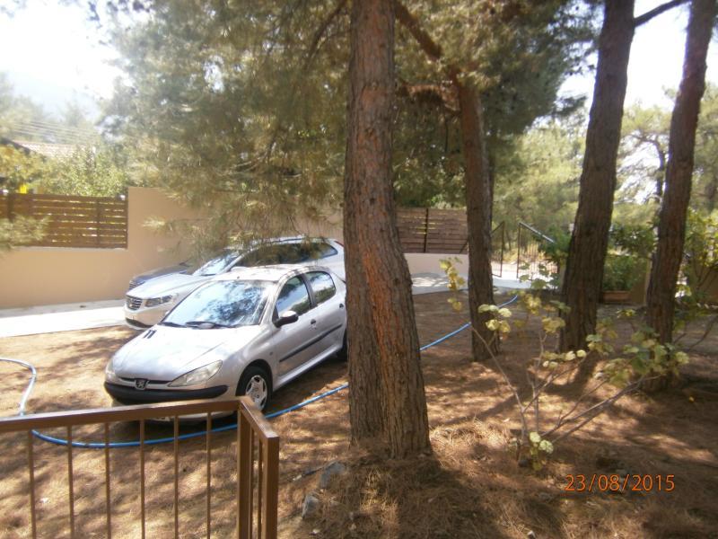 Parking area.