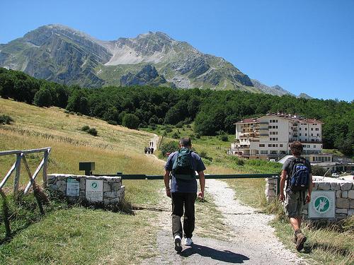 Dalla terrazza di casa direttamente su i sentieri per le escursioni