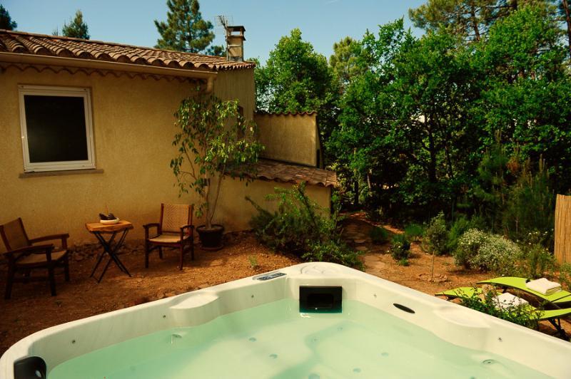 Gite*** au pied du mont Ventoux , jacuzzi privé, holiday rental in Flassan