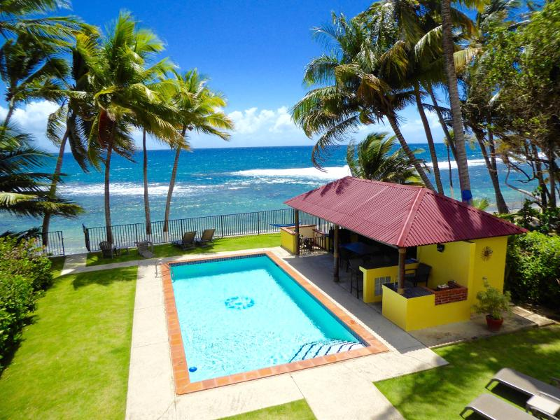 Private home directly on the Caribbean Sea with a pool!
