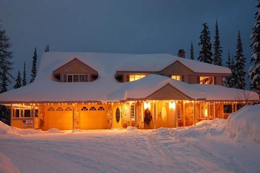 bonito chalet en la skiway - para 14 personas - Vista desde la carretera Odin