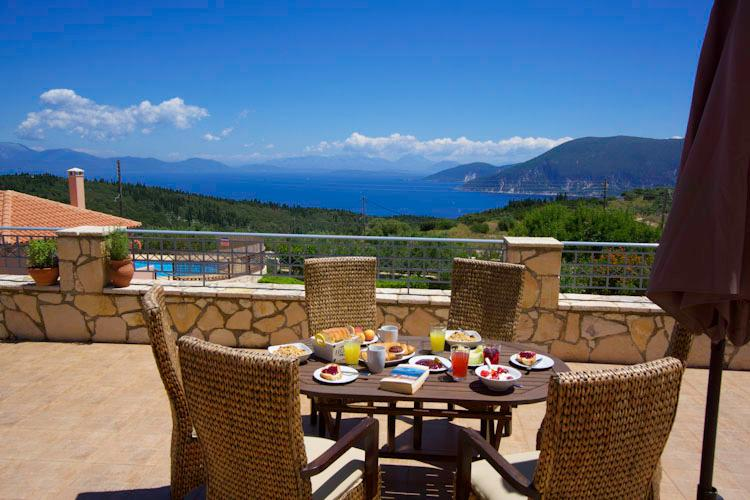 Wonderful views from the villa across to Ithaca, Lefkada, Mogonissi and