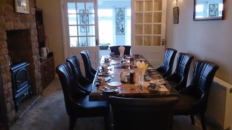 Dining room at Villa Pio B/B