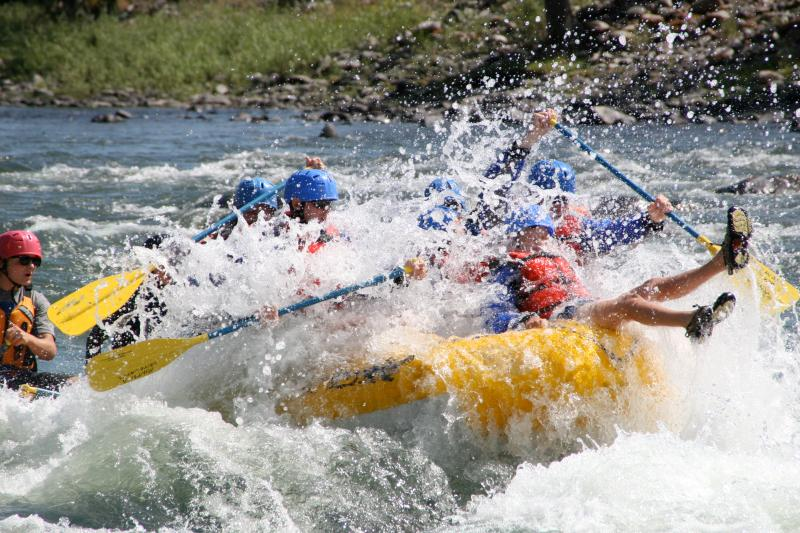 Get Ready, go!  White rafting the Yellowstone River, just 30 minutes away!.