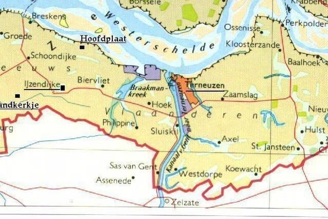 Map Zeeland Flanders